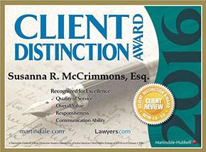 Springfield Law Group - Susanna McCrimmons Award 2016